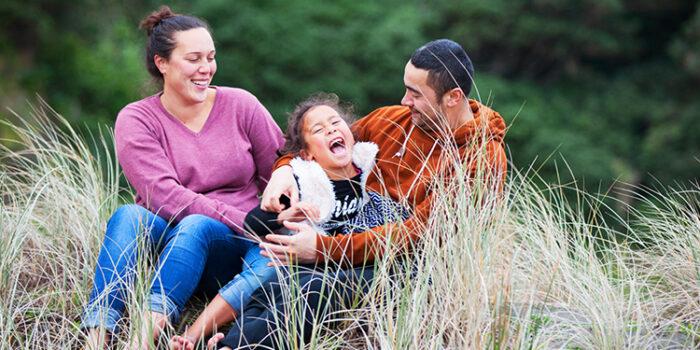 Fun Family Portrait Photography<br><span>Tennessy, Tom & Cecile</span><br><span>Kare Kare, Auckland</span><br><span>
