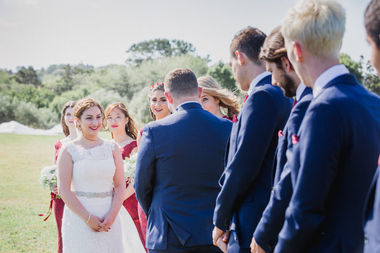 A photo taken during a wedding ceremony at the Hunting Lodge in Waimauku, near Auckland. Photo taken by Mala Photography, an Auckland based wedding photographer that shoots New Zealand wide.