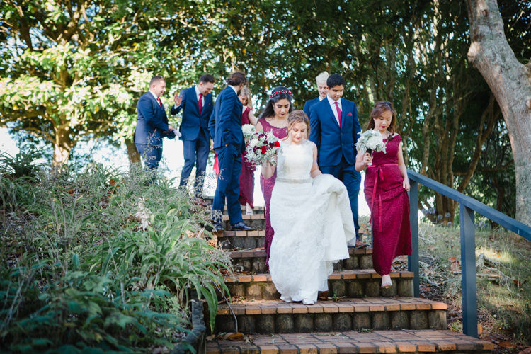 A wedding photo taken during a wedding at the Hunting Lodge in Waimauku, near Auckland. Photo taken by Mala Photography, an Auckland based wedding photographer that shoots New Zealand wide.